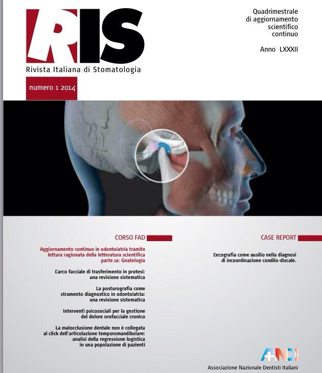 Articolo Pubblicato su RIS-Rivista Italiana Odontostomatologia
